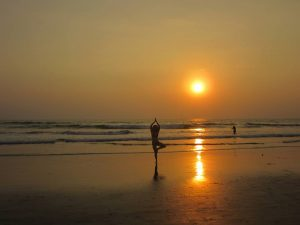 yoga at sundown